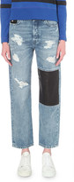 Diesel Leather patch straight mid-rise jeans