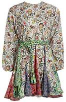 Ella Multicolor Floral Paisley A-Line Dress