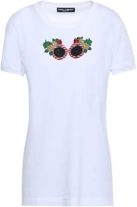 Dolce & Gabbana Appliqued Cotton-jersey T-shirt