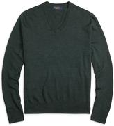 Brooks Brothers Saxxon Wool V-Neck Sweater