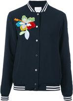 Mira Mikati flower detail bomber jacket