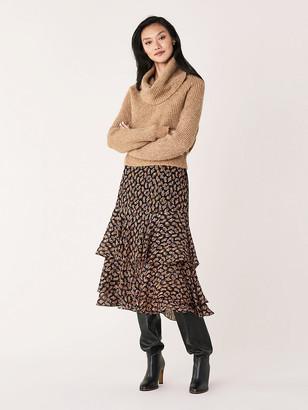 Diane von Furstenberg Pax Wool-Blend Cowl-Neck Sweater