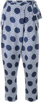 Mother of Pearl polka dot print trousers - women - Silk - 12