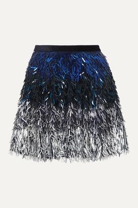 Alice + Olivia Alice Olivia - Cina Degrade Sequined Tulle Mini Skirt - Navy