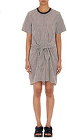 3.1 Phillip Lim Women's Knotted Striped Poplin Dress-BROWN