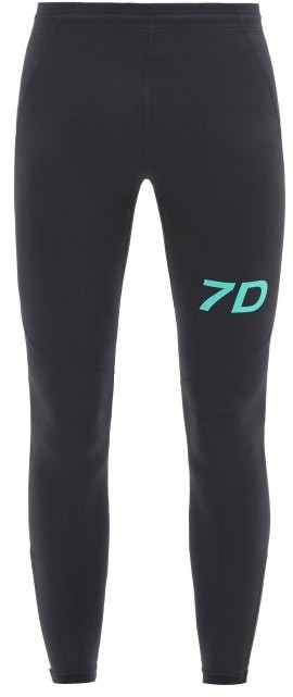 7 DAYS ACTIVE Logo-print Jersey Performance Leggings - Black