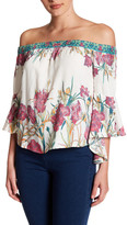 Flying Tomato Floral Off-the-Shoulder Blouse