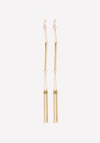 Bebe Tassel Linear Earrings