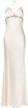 Roberto Cavalli Crystal-Embellished Long Dress