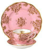 Royal Albert 100 Years Golden Rose Three Piece Set
