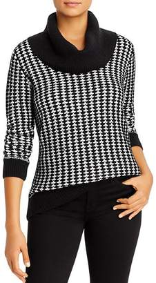 Calvin Klein Patterned Cowl-Neck Sweater