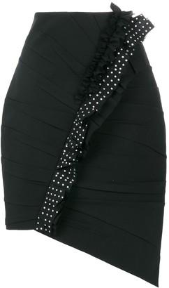 Saint Laurent Asymmetrical Mini Skirt