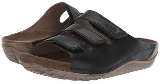 Wolky Nomad (Black Vegi Leather) Women's Sandals