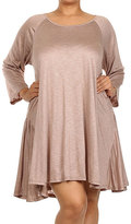 Canari Mocha Sidetail Tunic - Plus
