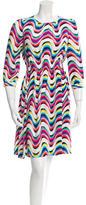 Kate Spade Printed Long Sleeve Silk Dress w/ Tags