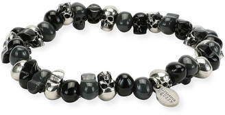 Alexander McQueen Men's Two-Tone Skull Bead Bracelet