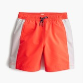 J.Crew Boys' swim trunk in side stripe