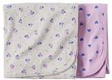 Carter's Baby Girls Hearts 2 Pk Swaddle Blanket Set