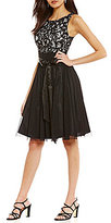 Jessica Howard Belted Lace Party Dress