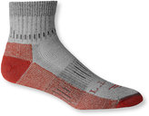 L.L. Bean Mens' Wool-Blend Midweight Cresta Socks, Quarter-Crew Two Pairs