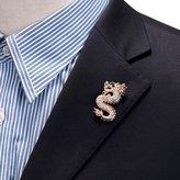 Yumily DIY Jewelry Mens Handmade Dragon Lapel Pins Tie Pin Suit Brooch