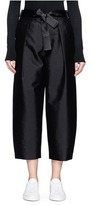 Elizabeth and James 'Anderson' belted silk-wool cropped pants