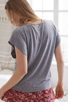 aerie Flutter Sleeve Graphic Tee