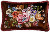 "Jay Strongwater Dutch Floral Pillow, 26"" x 16"""