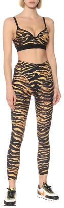 Adam Selman Sport Push-It tiger-print sports bra
