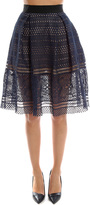 Self-Portrait Sofia Embroidered Knee Length Skirt