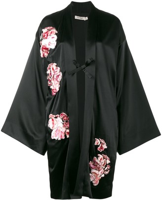 Alice Archer Floral Embroidered Kimono