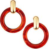 Kenneth Jay Lane Tortoise Hoop Clip Earrings