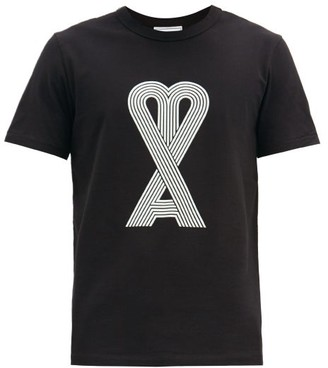 Ami De Coeur-print Cotton-jersey T-shirt - Black