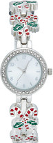 Charter Club Women's Silver-Tone Candy Cane Bracelet Watch 27mm, Only at Macy's