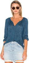 Velvet by Graham & Spencer Hugh 3/4 Sleeve V Neck Top