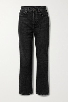 Acne Studios High-rise Straight-leg Jeans - Black