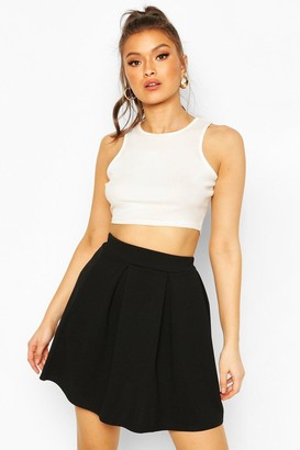 boohoo Jersey Crepe Pleated Tennis Skirt