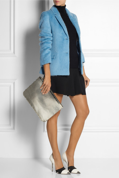 Jonathan Saunders Collette brushed-alpaca and wool-blend blazer