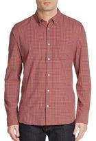 John Varvatos Regular-Fit Plaid Check Cotton Sportshirt