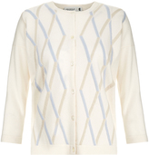 Pringle Embossed Argyle Cashmere Cardigan
