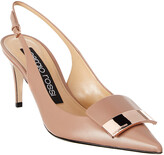 Sergio Rossi Sr1 Godiva 75 Leather Slingback Pump