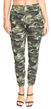 Almost Famous Juniors' Camo-Print Cargo Joggers