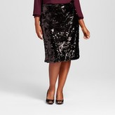 Ava & Viv Women's Plus Size Sequin Pencil Skirt