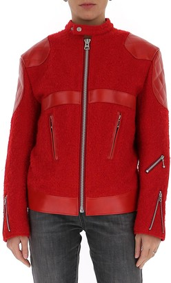 Junya Watanabe Faux Leather Detail Zipped Jacket