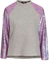 Jaded London **Pink Hologram Sequin Sleeve Sweat