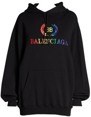 Balenciaga Rainbow Logo Hoodie