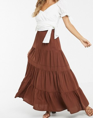 Y.A.S tiered maxi skirt