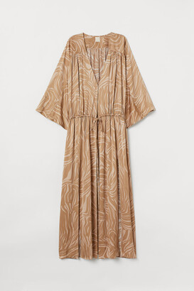 H&M Patterned Kaftan - Beige