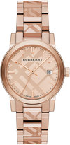 Burberry 38mm The City Rose Golden Stainless Steel Bracelet Watch