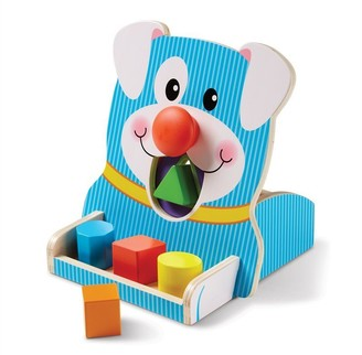 Melissa & Doug Colourful Shape Sorter Toy Spin and Feed